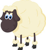 Cartoon adorable sheep Stock Image