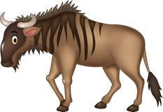 Cartoon adorable wildebeest isolated on white background Stock Photos