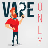Cartoon advertising background for vape Royalty Free Stock Photography