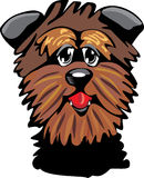 Cartoon Affenpinscher dog Stock Image