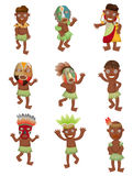 Cartoon Africa Indigenous icons Stock Photo