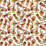 Cartoon Africa Indigenous seamless pattern Royalty Free Stock Photo