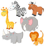 Cartoon african animals  Stock Photography