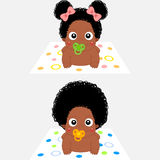 Cartoon African Babies Royalty Free Stock Photos