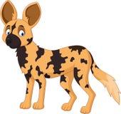 Cartoon African wild dog Royalty Free Stock Photos
