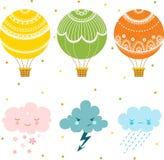 Cartoon air balloon icon. Stock Images