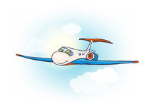 Cartoon air plane Stock Photography