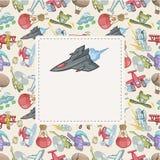 Cartoon aircraft card Stock Photo