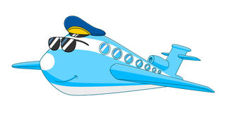 Cartoon aircraft. Cartoon cute aircraft isolated on white background royalty free illustration