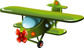 Cartoon airplane. Airplane in cartoon style as a  illustration Royalty Free Stock Photography