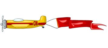 Cartoon Airplane Royalty Free Stock Images