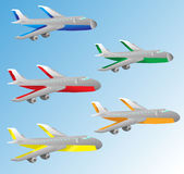 Cartoon airplane Royalty Free Stock Photo