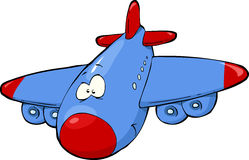 Cartoon airplane Stock Photography
