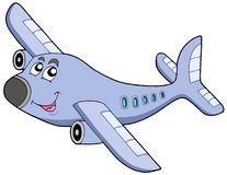 Cartoon airplane Stock Images
