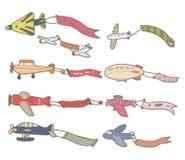 Cartoon airplane banner Stock Image