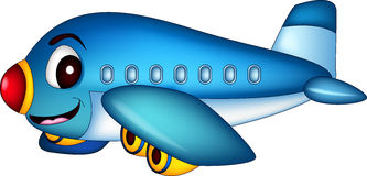 Cartoon airplane flying Stock Photos