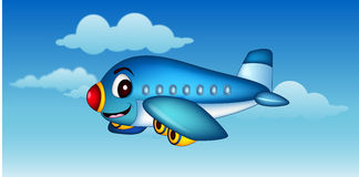 Cartoon airplane flying Royalty Free Stock Images