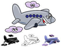 Cartoon airplane Royalty Free Stock Photos