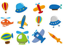 Cartoon airplane icon. Drawing Royalty Free Stock Photography