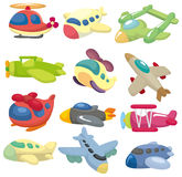 Cartoon Airplane Icon Royalty Free Stock Images