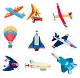 Cartoon airplane icon. Vector,illustration Stock Photography