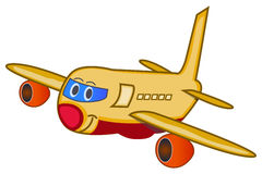 Cartoon Airplane. A  illustration of a smiling cartoon airlplane Stock Image