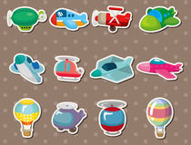 Cartoon airplane stickers Royalty Free Stock Image