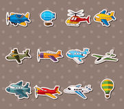Cartoon airplane stickers Royalty Free Stock Photography