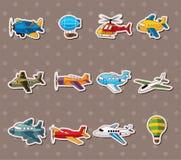 Cartoon airplane stickers. Cartoon vector illustration Royalty Free Stock Photography