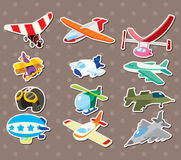 Cartoon airplane stickers Stock Image