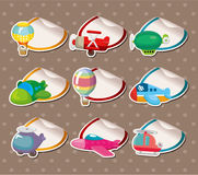 Cartoon airplane Stickers,Label Stock Image