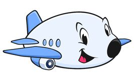 Cartoon Airplane. Vector illustration of a cute cartoon airplane for design element Stock Photo