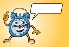 Cartoon alarm clock character Stock Images
