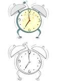 Cartoon alarm clock Stock Photo