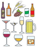 Cartoon Alcohol Related Items Stock Images