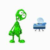 Cartoon alien. 3d render of cartoon alien Royalty Free Stock Images