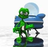 Cartoon alien. 3d render of cartoon alien Royalty Free Stock Photography