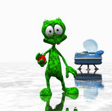 Cartoon alien Stock Images