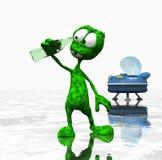 Cartoon alien Royalty Free Stock Photos