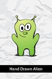 Cartoon Alien Royalty Free Stock Photography