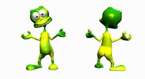 Cartoon alien Royalty Free Stock Images