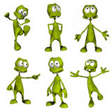 Cartoon Alien Stock Image