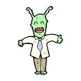cartoon alien boss Royalty Free Stock Photo