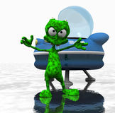Cartoon alien character Stock Photography