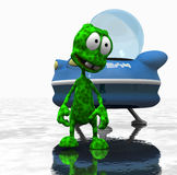 Cartoon alien character. Quality 3d render of cartoon alien Royalty Free Stock Image