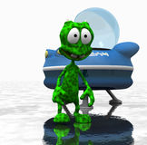 Cartoon alien character Stock Photo