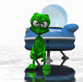 Cartoon alien character. Quality 3d render of cartoon alien Royalty Free Stock Images