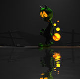 Cartoon alien character. Quality 3d render of cartoon alien Royalty Free Stock Photos
