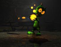 Cartoon alien character Stock Photos