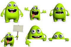 Cartoon alien Royalty Free Stock Image